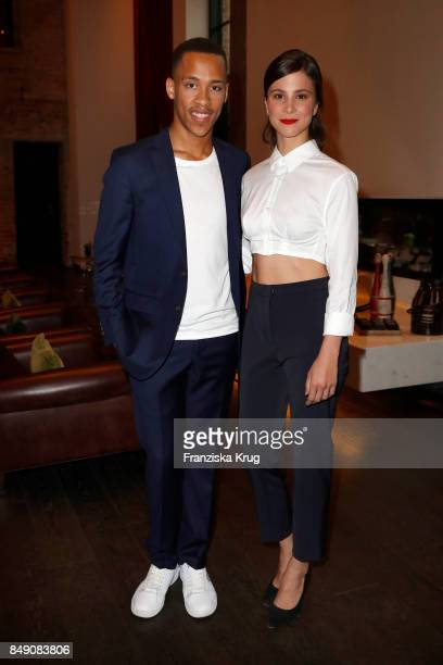 Jerry Hoffmann and Aylin Tezel attend the First Steps Award 2017 at Hotel Zoo on September 18 2017 in Berlin Germany
