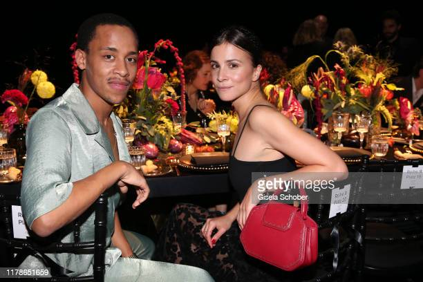 """Jerry Hoffmann and Aylin Tezel during the """"Clash de Cartier - The Opera"""" event at Eisbachstudios on October 24, 2019 in Munich, Germany."""