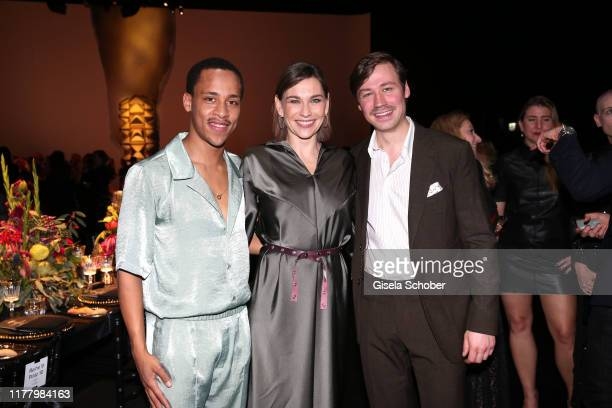 Jerry Hoffmann Christiane Paul David Kross during the Clash de Cartier The Opera event at Eisbachstudios on October 24 2019 in Munich Germany