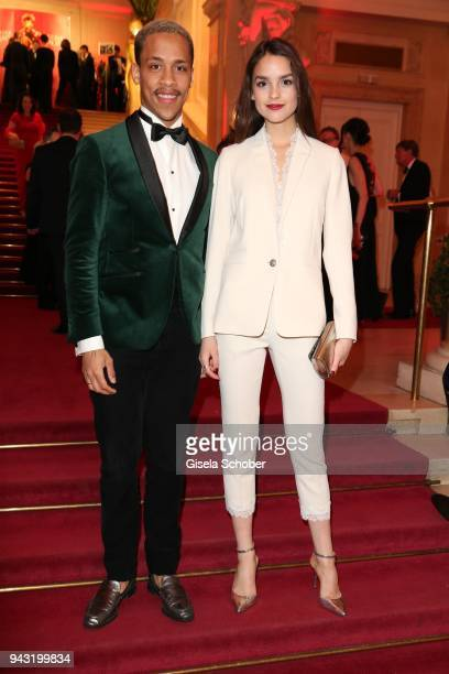Jerry Hoffmann, Luise Befort during the 29th ROMY award at Hofburg Vienna on April 7, 2018 in Vienna, Austria.