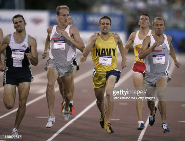 Jerry Holt/Star Tribune 7/15/2004 U.S. Team Trials/Track and Field Sacramento CA-------Alan Webb right near the finish line of the MenÕs 1,500...