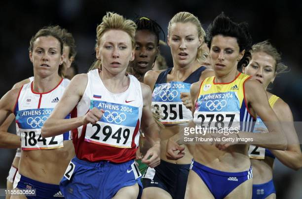 Jerry Holt/Star Tribune Athens Greece 8/24/2004 womenÕs 1500mCarrie Tollefson flanked left to right Hayley Tullett Tatyana Tomashova and Elena Iagar...