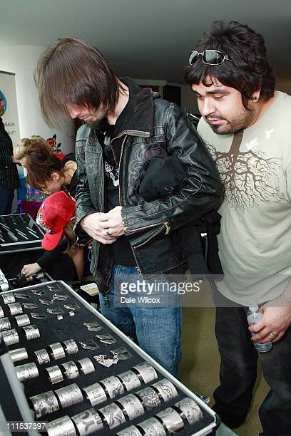 Jerry Horton and Dave Buckner of Pappa Roach during KROQ Acoustic Christmas Gift Lounge Day 1 at Gibson Amphitheater in Universal City California...