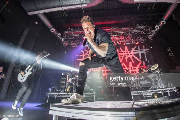 Jerry Horton and Jacoby Shaddix of Papa Roach perform in concert at Razzmatazz on October 14 2017 in Barcelona Spain
