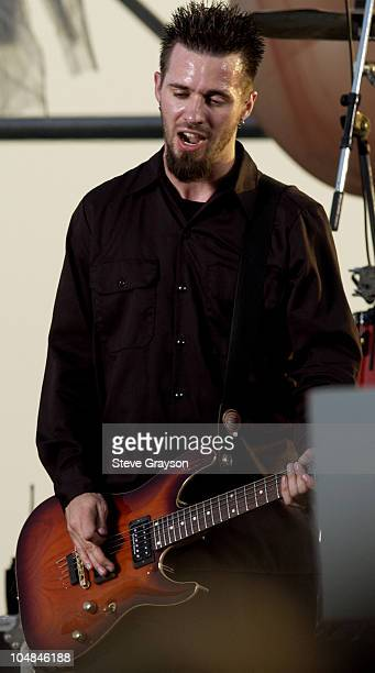 Jerry Horton during Papa Roach InStore Rooftop Concert at Best Buy in Los Angeles California United States