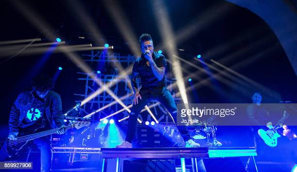 Jerry Horton Jacoby Shaddix and Tobin Esperance of Papa Roach perform at Brixton Academy on October 10 2017 in London England