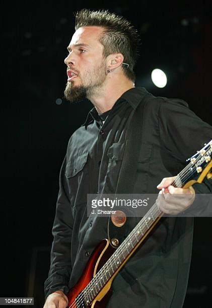 Jerry Horton of Papa Roach during Anger Management Tour 2002 at Shoreline Amphitheatre in Mountain View California United States