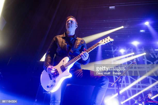 Jerry Horton of Papa Roach performs at L'Olympia on October 13 2017 in Paris France