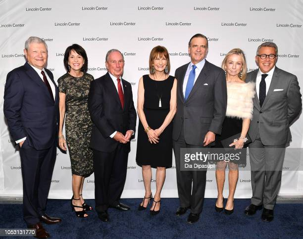 Jerry I Speyer Katherine Farley Mike Bloomberg Patricia E Harris Robert K Steel Gillian Steel and Russell Granet attend Lincoln Center Fall Gala at...