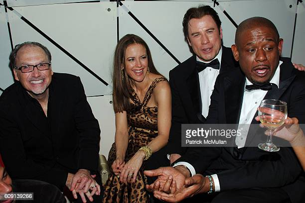 Jerry Inzerillo Kelly Preston John Travolta and Forest Whitaker attend VANITY FAIR Oscar Party at Morton's on February 25 2007 in Los Angeles CA