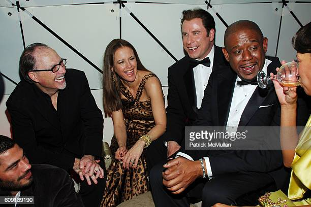 Jerry Inzerillo Kelly Preston John Travolta Forest Whitaker and Keisha Whitaker attend VANITY FAIR Oscar Party at Morton's on February 25 2007 in Los...