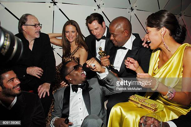 "Jerry Inzerillo, Sean ""P. Diddy"" Combs, Kelly Preston, John Travolta, Forest Whitaker and Keisha Whitaker attend VANITY FAIR Oscar Party at Morton's..."
