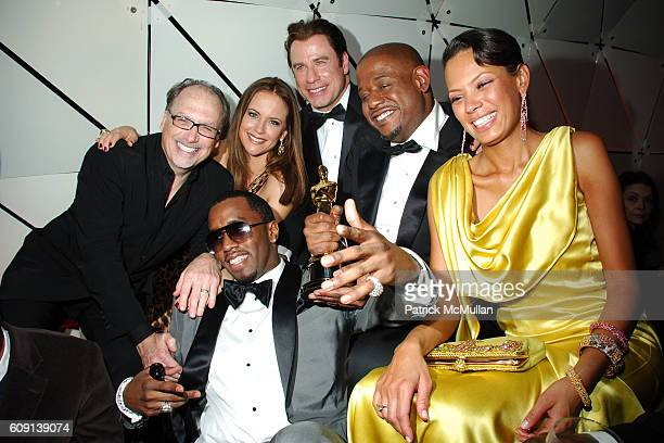 Jerry Inzerillo Sean P Diddy Combs Kelly Preston John Travolta Forest Whitaker and Keisha Whitaker attend VANITY FAIR Oscar Party at Morton's on...