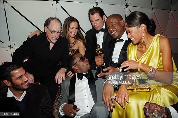 Jerry Inzerillo Sean P Diddy Combs Kelly Preston John Travolta Forest Whitaker and Keisha Whitaker attend VANITY FAIR Oscar Party at Morton's on...