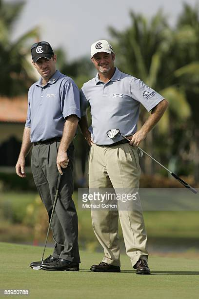 Jerry Kelly and partner Rod Pampling during the third and final round of the Merrill Lynch Shootout at the Tiburon Golf Club in Naples Florida on...