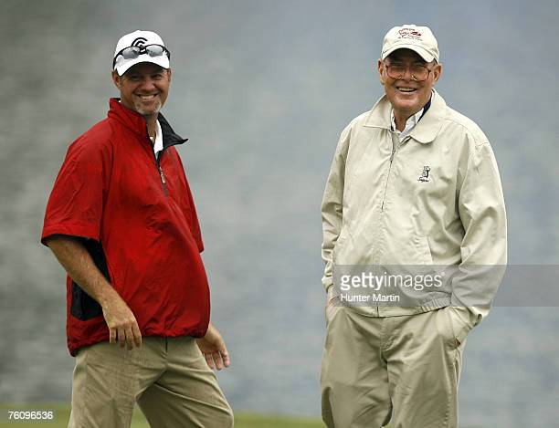 Jerry Kelly and Pete Dye during practice for THE PLAYERS Championship held on THE PLAYERS Stadium Course at TPC Sawgrass in Ponte Vedra Beach,...