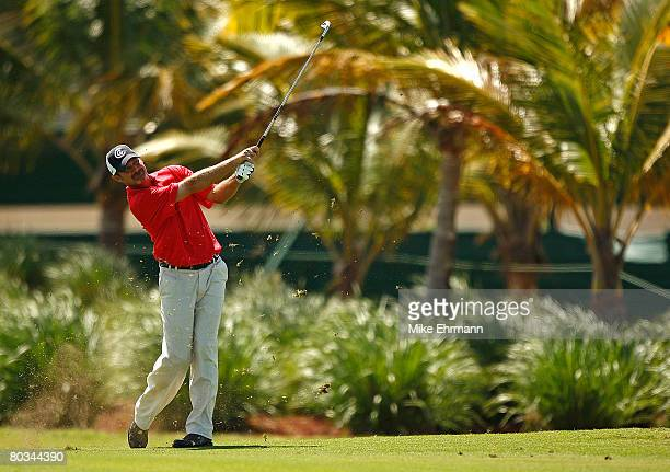 Jerry Kelly hits his approach on the 12th hole during the third round of the Puerto Rico Open presented by Banco Popular held on March 22 2008 at...