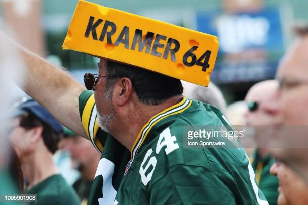 Jerry Kramer fan shouts during Green Bay Packers training camp at Ray Nitschke Field on July 26 2018 in Ashwaubenon WI