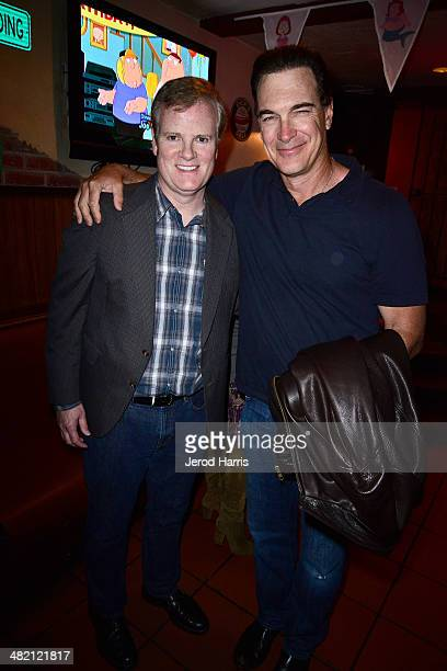 Jerry Lambert and Patrick Warburton attend the Launch Party for the 'Family Guy' Game at the Happy Ending Bar Restaurant on April 2 2014 in Hollywood...