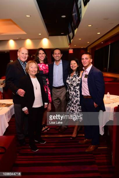 Jerry Landsky Naomi Barton Anna Seitz Adam Shapiro Naomi Shapiro and Sam Grant attend the Cotillion PA Derby at Parx Raceway on September 22 2018 in...