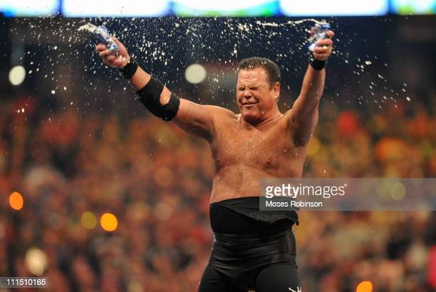 Jerry Lawler attends 'WrestleMania 27' at the Georgia World Congress Center on April 3 2011 in Atlanta Georgia