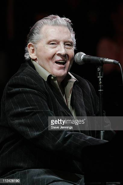 Jerry Lee Lewis during 19th Annual Bridge School Benefit Concert - Day One at Shoreline Amphitheatre in Mountain View, California, United States.