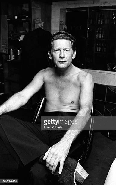 Jerry Lee LEWIS; Jerry Lee Lewis backstage at Lorelei in New York City on August 8, 1979