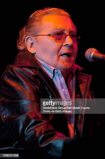 Jerry Lee Lewis performs during the Bridge School Benefit Concert Saturday October 27 at the Shoreline Amphitheatre in Mountain View Calif