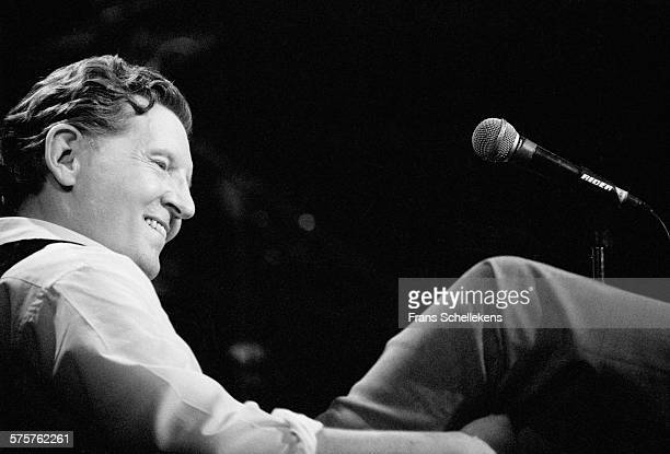 Jerry Lee Lewis, piano-vocal, performs on January 28th 1994 at the Paradiso in Amsterdam, Netherlands.