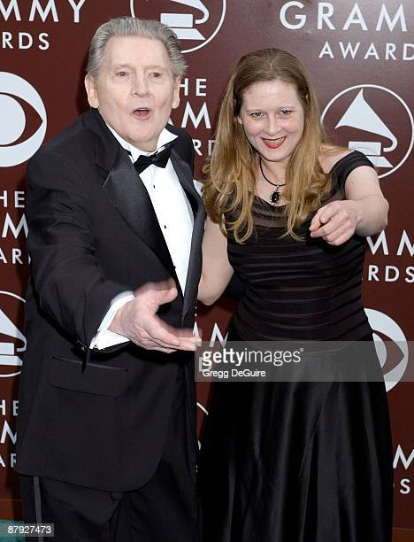Jerry Lee Lewis recipient of the Recording Academy Lifetime Achievement Award and daughter Phoebe Lewis Photo by Gregg DeGuire/WireImage for The...