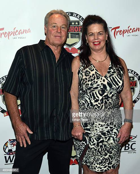 Jerry Leighton and Valerie Leighton granddaughter of the late boxer and inductee Jack Dempsey arrive at the second annual Nevada Boxing Hall of Fame...