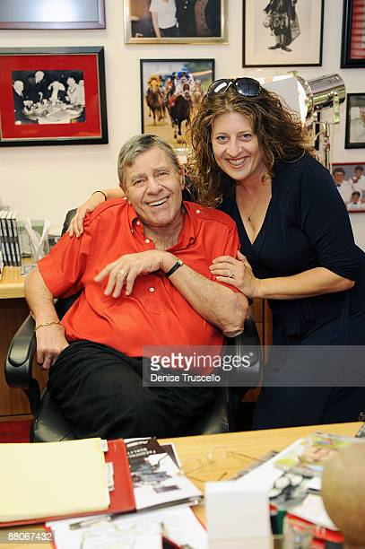 Jerry Lewis and Melissa Balin during an interview for the Ina Balin documentary on May 29 2009 in Las Vegas Nevada