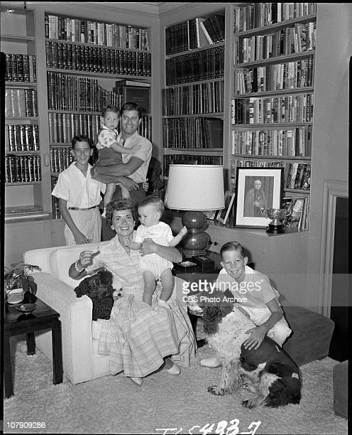 Jerry Lewis at home with his wife Patti and their sons for PERSON TO PERSON Image dated September 26 1958