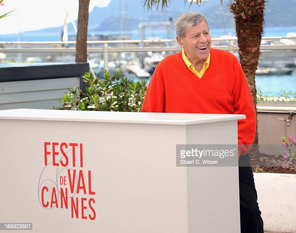 Jerry Lewis attends the 'Max Rose' photocall during The 66th Annual Cannes Film Festival at the Palais des Festivals on May 23 2013 in Cannes France