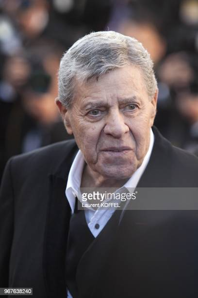 Jerry Lewis attends the 'Nebraska' premiere during The 66th Annual Cannes Film Festival at the Palais des Festiva on May 23 2013 in Cannes France