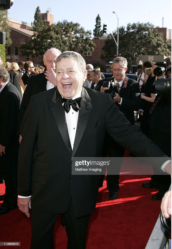 Jerry Lewis during 57th Annual Primetime Creative Arts EMMY Awards - Arrivals & Red Carpet at Shrine Auditorium in Los Angeles, California, United States.