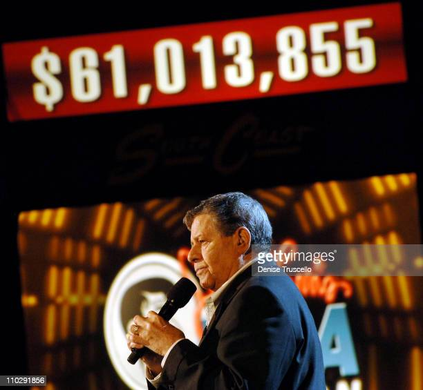 Jerry Lewis during Jerry Lewis MDA Telethon Day 2 at The South Coast Hotel and Casino Resort at South Coast Hotel and Casino Resort in Las Vegas...