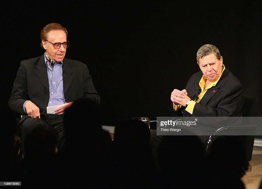 Jerry Lewis is interviewed by Peter Bogdanovich at the Moving ...