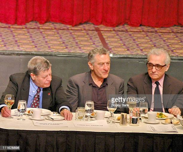 Jerry Lewis, Robert De Niro and Martin Scorsese during Friars Club Roast Of Jerry Lewis - June 9, 2006 at New York Hilton in New York, New York,...