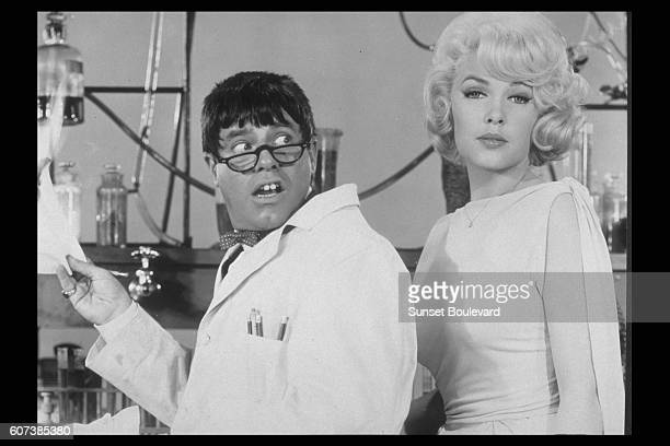 Jerry Lewis who both directed and acted in 'The Nutty Professor' seen here with Stella Stevens
