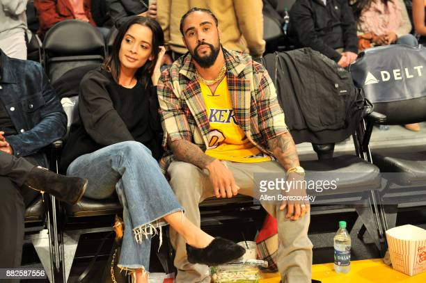 Jerry Lorenzo and a guest attend a basketball game between the Los Angeles Lakers and the Golden State Warriors at Staples Center on November 29 2017...