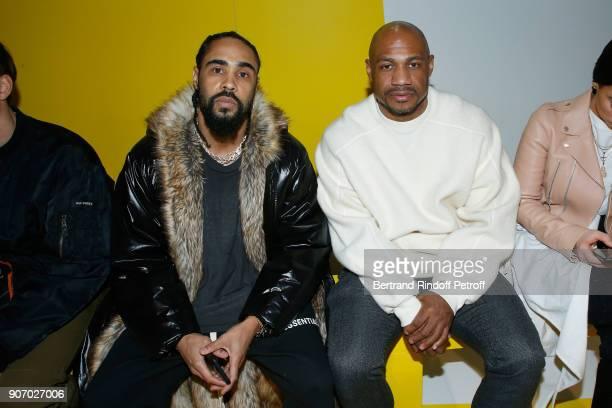 Jerry Lorenzo and Kareem 'Biggs' Burke attend the Maison Margiela Menswear Fall/Winter 20182019 show as part of Paris Fashion Week on January 19 2018...