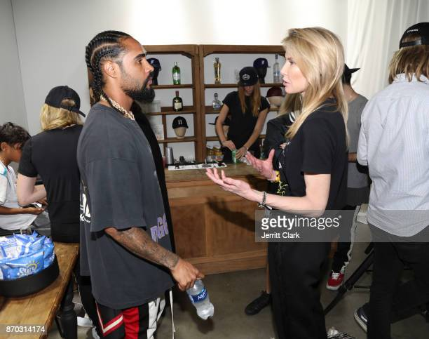 Jerry Lorenzo and Lindsay Koch attend New Era Cap 2017 Complex Con Ambassador Collab lounge with A$AP Ferg Mike Will MadeIT Jerry Lorenzo Takashi...