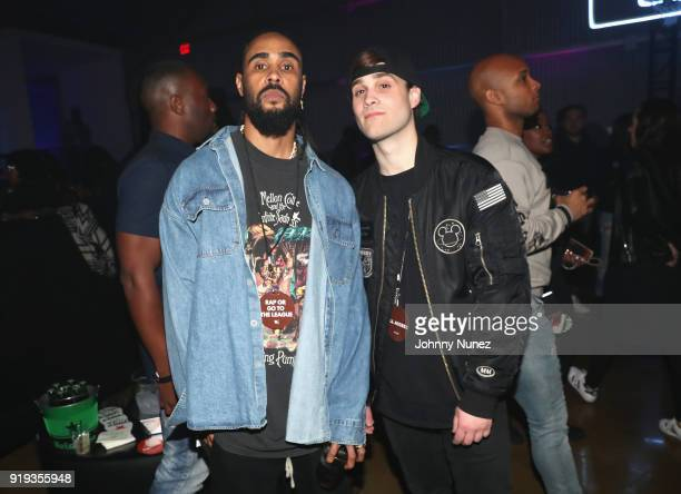 Jerry Lorenzo and Marco Foster attend the 2 Chainz Hosts NBA AllStar Def Jam End Party at Milk Studios on February 16 2018 in Los Angeles California