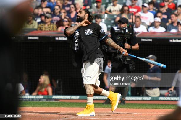 Jerry Lorenzo during the 2019 MLB AllStar Cleveland vs The World Celebrity Softball Game at Progressive Field on July 07 2019 in Cleveland Ohio