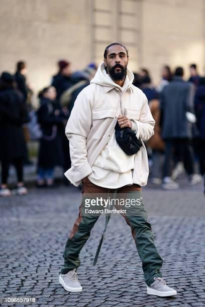 Jerry Lorenzo from Fear of God is seen outside Jil Sander during Paris Fashion Week Menswear F/W 20192020 on January 18 2019 in Paris France