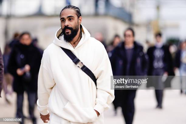 Jerry Lorenzo from Fear of God is seen outside Louis Vuitton during Paris Fashion Week Menswear F/W 20192020 on January 17 2019 in Paris France