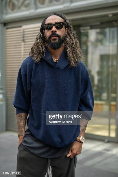 Jerry Lorenzo is seen on the street during Men's Paris Fashion Week on June 19 2019 in Paris France