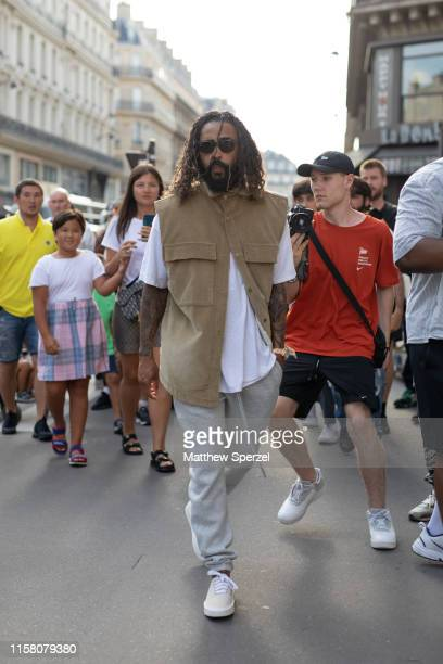 Jerry Lorenzo is seen on the street during Paris Mens Fashion Week on June 23 2019 in Paris France