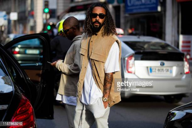Jerry Lorenzo is seen outside Alyx during Paris Fashion Week Menswear Spring/Summer 2020 on June 23 2019 in Paris France